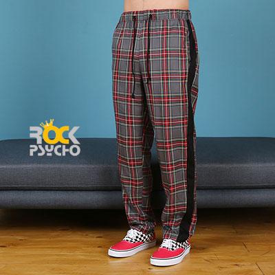 【ROCK PSYCHO】TARTAN CHECK PANTS - GREY
