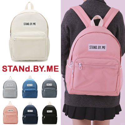 【STANd.BY.ME】FRONT SIDE MESH POCKET BACKPACK(7color)