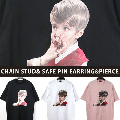 [UNISEX] FACE PRINTING SHORT SLEEVE TSHIRTS(3color)