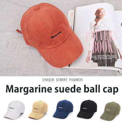 [UNISEX] MARGARINE SUEDE BALL CAP(6color)