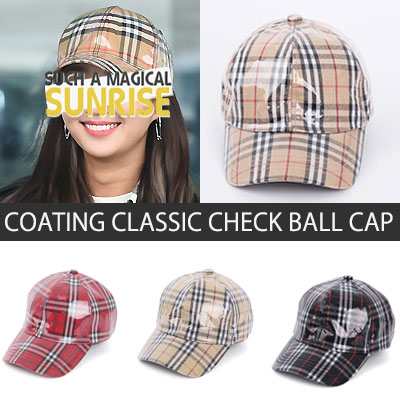 [UNISEX] COATING CLASSIC CHECK BALL CAP(3color)