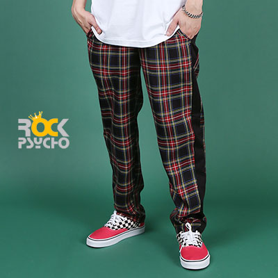 【ROCK PSYCHO】TARTAN CHECK PANTS - NAVY