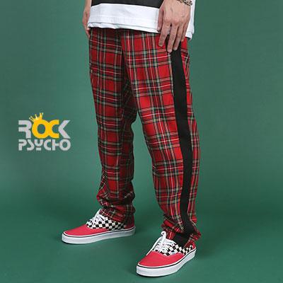 【ROCK PSYCHO】TARTAN CHECK PANTS - RED