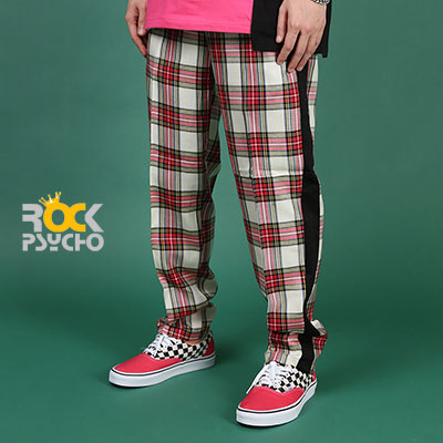 【ROCK PSYCHO】TARTAN CHECK PANTS  - IVORY