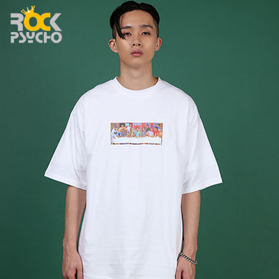 【ROCK PSYCHO】Hip hop party short sleeve T-Shirt ( 2 COLORS )