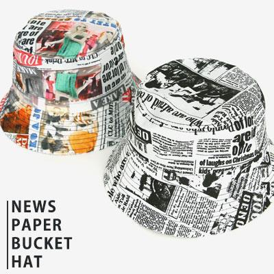 [UNISEX] NEWSPAPER BUCKET HAT (2color)