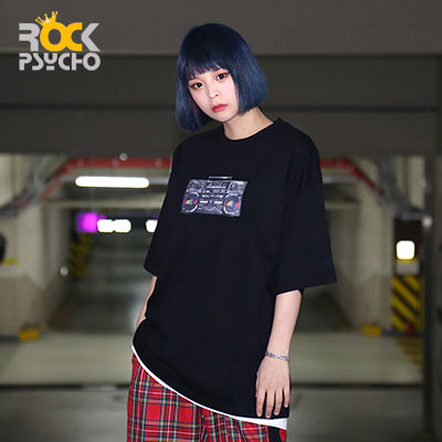 【ROCK PSYCHO】Cassette Printing Short Sleeve T-shirt ( 2 COLORS )