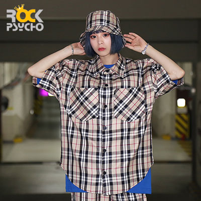 【ROCK PSYCHO】London checked short sleeve shirt