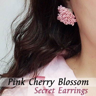 PINK CHERRY BLOSSOM SECRET EARRINGS
