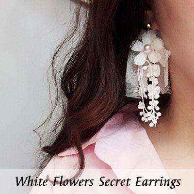 WHITE FLOWERS SECRET EARRINGS