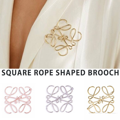【PAPER MOON】SQUARE ROPE SHAPED BROACH(3color)