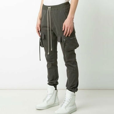 [UNISEX] SLIM LINE KHAKI CARGO PANTS