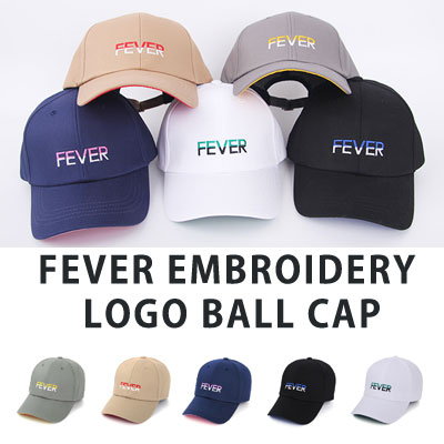 [UNISEX] FEVER EMBROIDERY LOGO BALL CAP(5color)