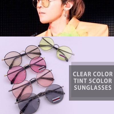 [UNISEX] bigbang gd/gdragon st.CLEAR COLOR TINT SUNGLASSES(5color)