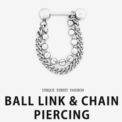 [UNISEX] BALL LINK/CHAIN PIERCING