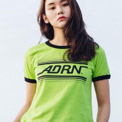 【2XADRENALINE】ADRN LINE RINGER T-Shirt (WOMEN/LIME)