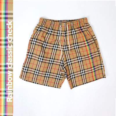 [UNISEX] RAINBOW CHECK POINT SHORT PANTS