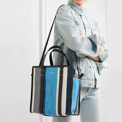 [M-size] STRIPE SQUARE SHOULDER STRAP BAG(3color)