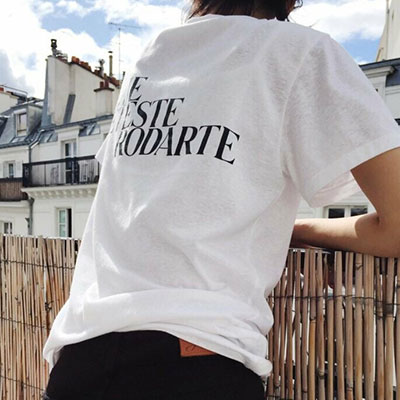 【PAPER MOON】SIMPLY BLACK LETTERING SHORT SLEEVE T-SHIRTS(white ver.)