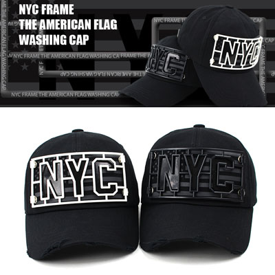 [UNISEX] NYC FRAME THE AMERICAN FLAG WASHING CAP(2color)