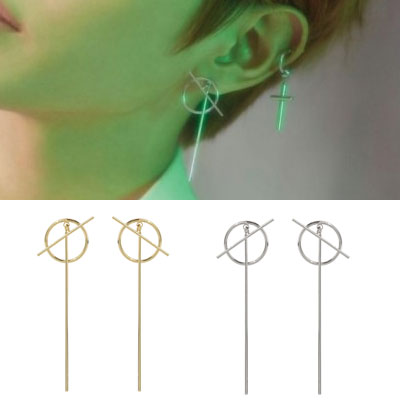 [1ea] NCT st. CIRCLE/CROSS PIERCE(2color)