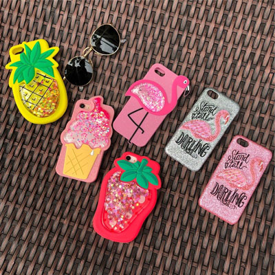 GLITTER iPhone SOFT CASE/COVER(4type)