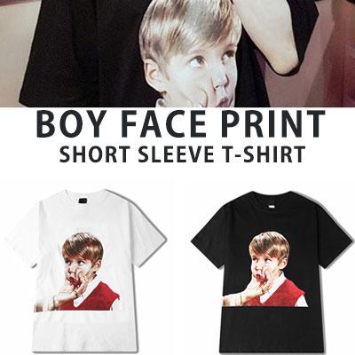 [UNISEX] BOY FACE PRINT SHORT SLEEVE TSHIRTS(2color)