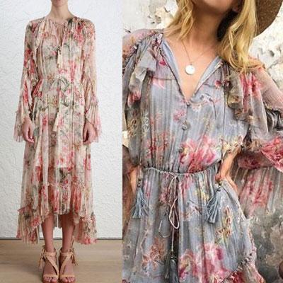 FLOWER SUMMER DRESS(2color)
