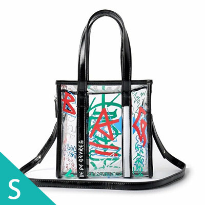 [S-SIZE] GRAFFITI CLEAR SQUARE BAG(4color)