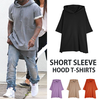 KANYE WEST st. SHORT SLEEVE HOOD TSHIRTS(4color)