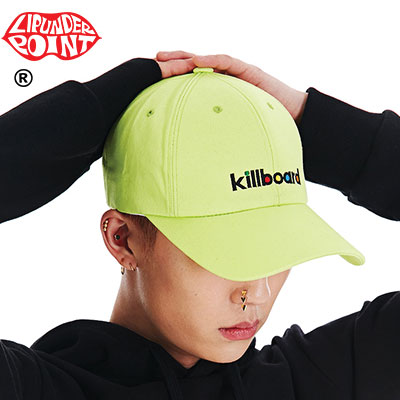 [LIP・UNDER・POINT]  KILLBOARD BALLCAP -NEON/WHITE/BLACK