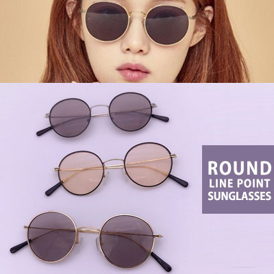 [UNISEX] Lee Sungkyung st. ROUND LINE POINT TINT SUNGLASSES(3color)