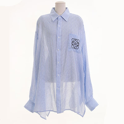 [UNISEX] SQUARE ROPE PATTERN EMBROIDERY OVERSIZED SHIRTS(2color)