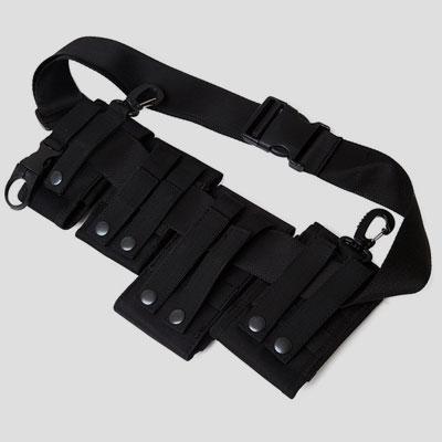 BLACK TECHWEAR MULTI POUCH BAG