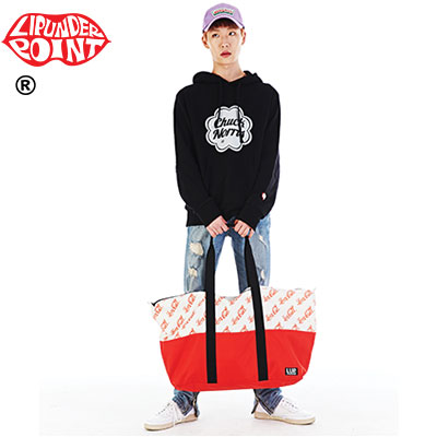 [LIP・UNDER・POINT] LOVECALL DUFFEL BAG-RED