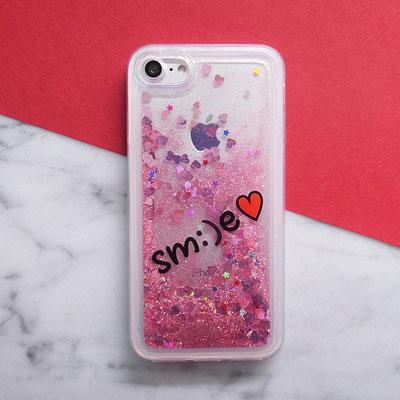 SMILE GLITTER SMARTPHONE CASE