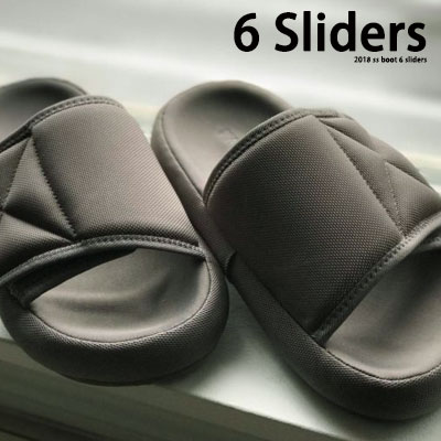 [24.5~27.5cm]Grey Flatform Slippers 6 Sliders
