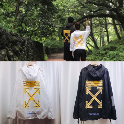 [UNISEX] W YELLOW LETTERING WINDBREAKER (2color 2size)