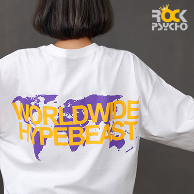 【ROCK PSYCHO】WORLDWIDE CITY Short Sleeve TShirt -BLACK/WHITE
