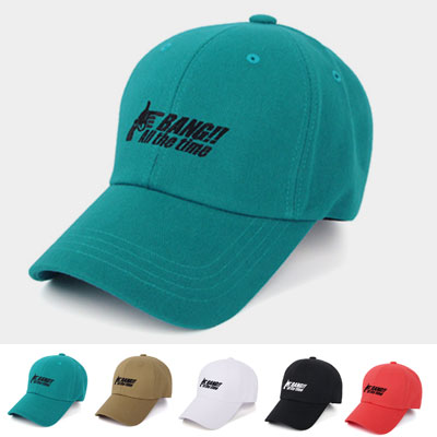 [UNISEX] BANG! EMBROIDERY BALL CAP(5color)