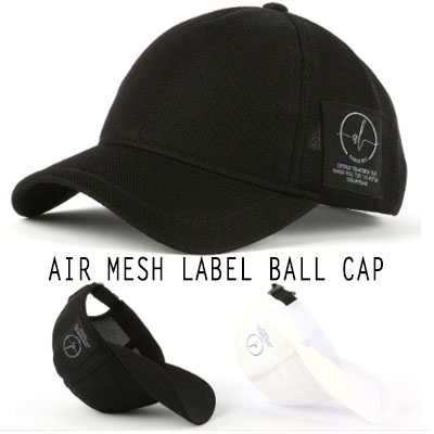 [UNISEX] AIR MESH LABEL BALL CAP(2color)