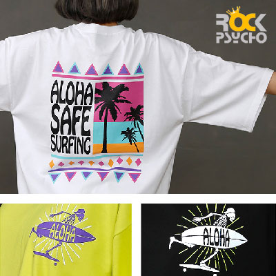 【ROCK PSYCHO】Aloha Short Sleeve T-Shirt (3colors)
