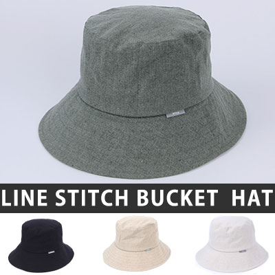 [UNISEX] NATURAL LINEN BUCKET HAT(4color)