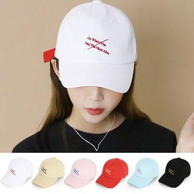 [UNISEX] LETTERING STRAP PATCH BALL CAP(6color)