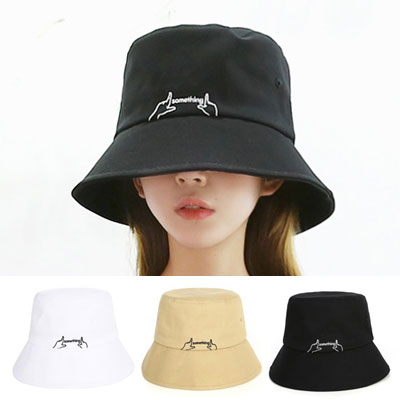 [UNISEX] FINGER SOMETHING BUCKET HAT(3color)