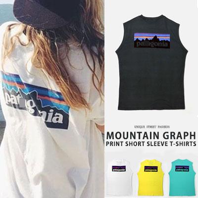 [UNISEX] MOUNTAIN GRAPH PRINT TANK TOP(4color)