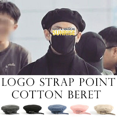 BTS st)EYELET STRAP COTTON BERET
