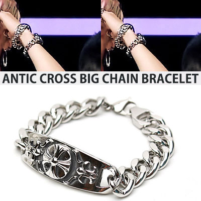 BIGBANG GD G-DRAGON st. ANTIQUE CROSS BIG CHAIN BRACELET