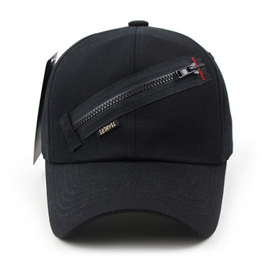 [UNISEX] ZIPPER POINT BALL CAP(2color)