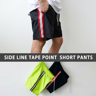 SIDE LINE TAPE POINT SHORTS PANTS(2color)